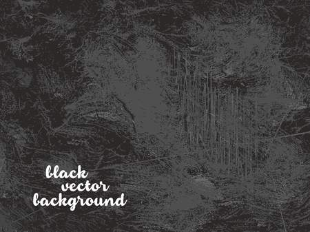Black grunge and dirty vector background