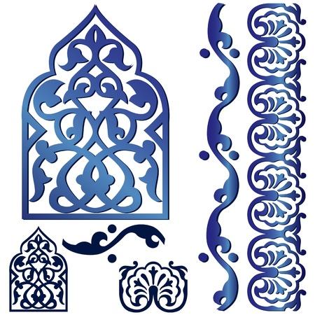 Illustration pour Vector of Islamic design element on white - image libre de droit