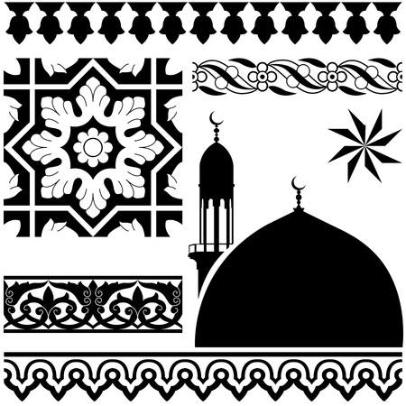 Vector of different Islamic pattern on white backgraund
