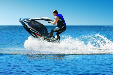 Photo for Man on jet ski - Royalty Free Image