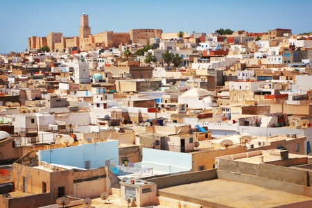 Panorama of the old town in Sousse, Tunisia