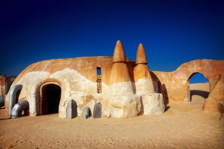 Star wars decoration in Sahara desert, Tunisia