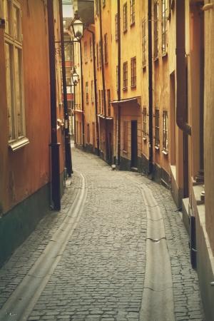 Narrow street in Gamla Stan,