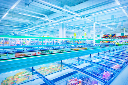 Various products in a supermarket