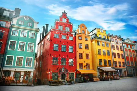 Photo pour Stortorget place in Gamla stan, Stockholm - image libre de droit