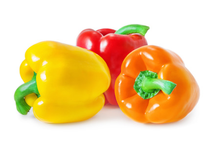 Foto per Bell peppers isolated on white - Immagine Royalty Free
