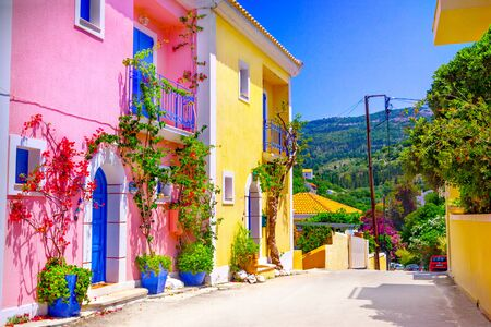 Photo for Street in Kefalonia island, Greece - Royalty Free Image
