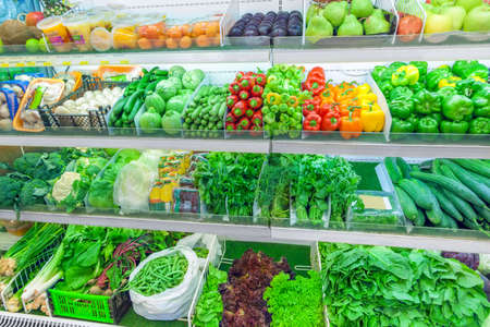 Photo for Fruits and vegetables on the counter at the market - Royalty Free Image