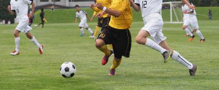 Photo pour football game close up background. - image libre de droit