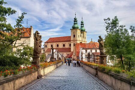 Photo for Klodzko, baroque replica of the Charles Bridge in Prague - Royalty Free Image