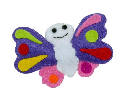 Handmade toy from felt - butterflies