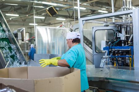 Working on bottle industry