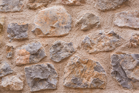 Stone background texture. Background wall made of stone.