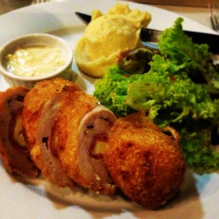 Chicken Cordon Bleu.