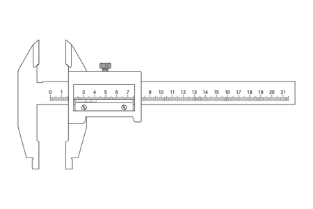 Caliper. Outline drawingの素材 [FY31084404695]