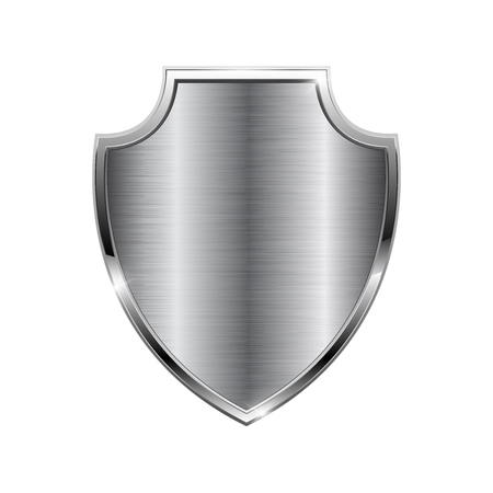 Foto per Metal 3d shield isolated on plain background. - Immagine Royalty Free