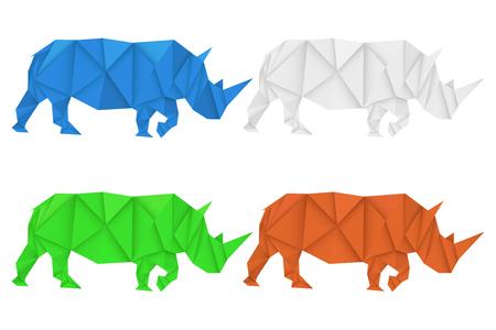 Ilustración de Rhinoceros. Polygonal vector illustration - Imagen libre de derechos