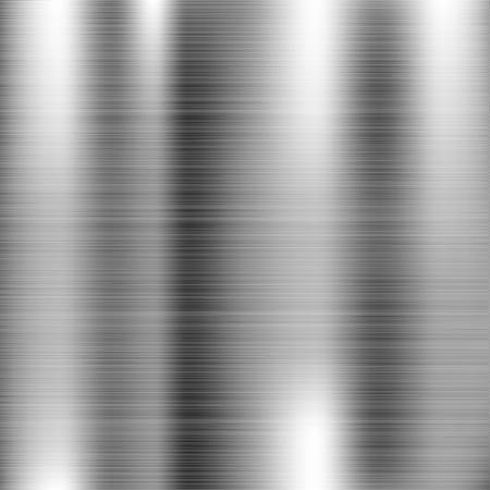 Illustration pour Brushed metal texture. Scratched shiny 3d surface. Vector illustration - image libre de droit