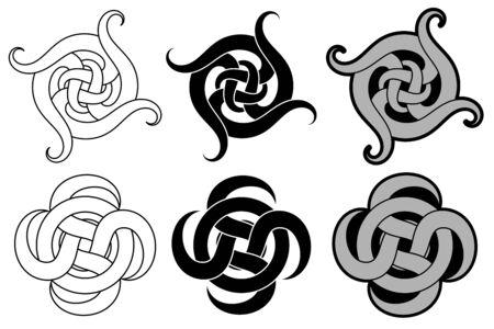Illustration pour Decorative arabic ornament. Tattoo design - image libre de droit