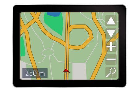 Illustration pour Navigation device - image libre de droit