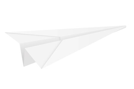 Illustration for Paper airplane. Folded glider. Vector illustration isolated on white background - Royalty Free Image