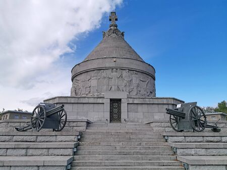 Photo pour First World War Heros Mausoleum. The monument was built in the memory of  Romanian Army who blocks the German attacks. - image libre de droit