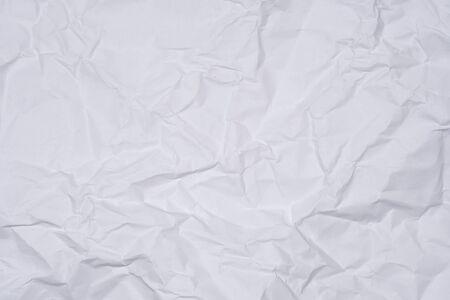 Foto de White crumpled paper as texture, close image - Imagen libre de derechos