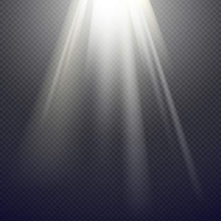 Illustration for Light Effect Spotlight with Transparent Background - Royalty Free Image