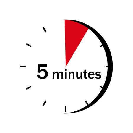 Ilustración de On the face of the clock marked red sector a 5 minute - Imagen libre de derechos
