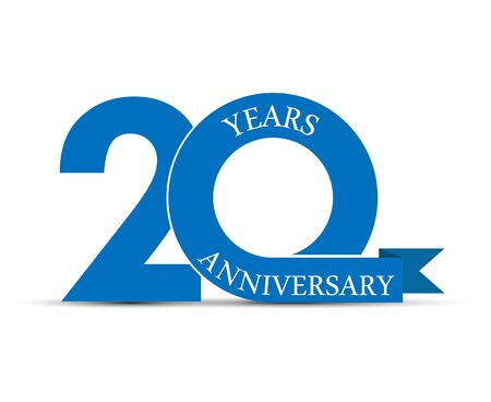 Illustration for 20 years anniversary, simple design, icon for decoration - Royalty Free Image