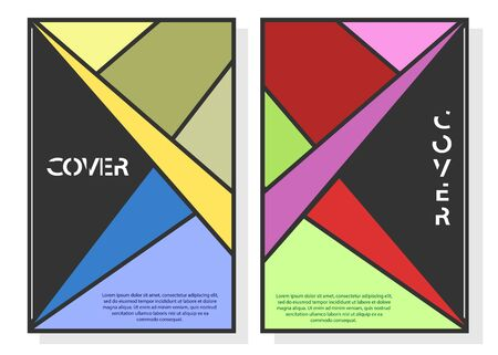 Illustration pour Editable design for the cover, A4 format. Geometric abstract background for the design of the cover, screen saver, for applications and websites, for business cards, posters and other printed products. - image libre de droit
