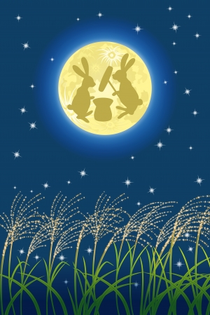 Japanese full moon image