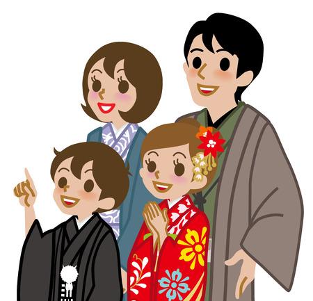 Kimono family,Waist Up