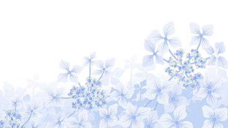 Illustration pour Hydrangea Background - image libre de droit