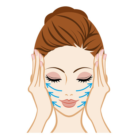 Illustration for Lift up-Facial Skin Care - Royalty Free Image