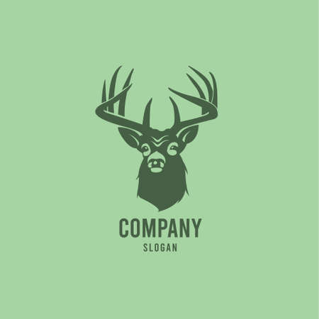 Illustration pour This  can be made a company deer breeding - image libre de droit