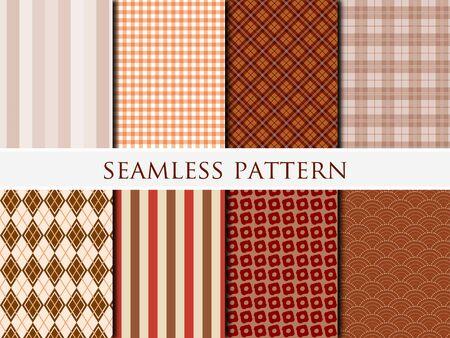 Illustration pour Set of autumn patterns - image libre de droit