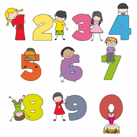 Funny numbers with children  Learning to count