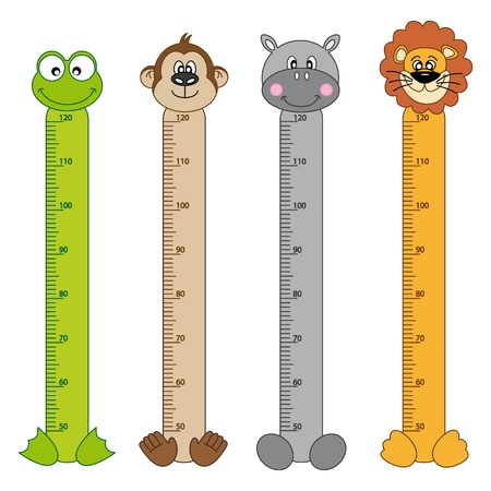 Photo for Bumper children meter wall  Animals Stickers - Royalty Free Image