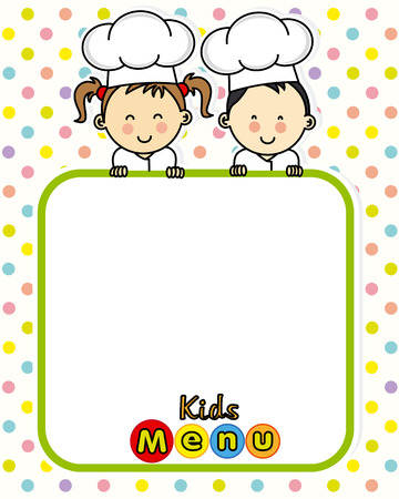 kids menu. space for text
