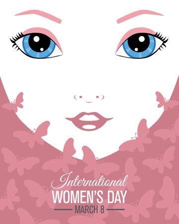 Photo pour Poster design for International Women's day. - image libre de droit
