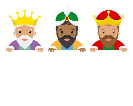 Illustration pour The three kings of orient. Space for text - image libre de droit