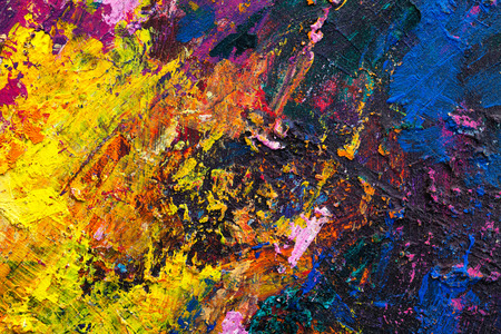 Photo pour Abstract painting color texture. Bright artistic background in red and yellow - image libre de droit