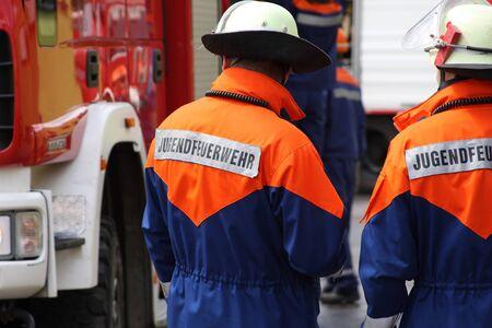 Foto für Firefighters use the youth fire department - Lizenzfreies Bild