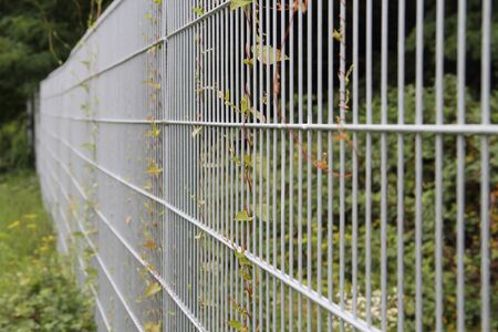 Photo for A garden fence made of metal - Royalty Free Image