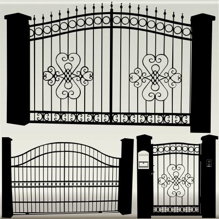 iron gates - vector