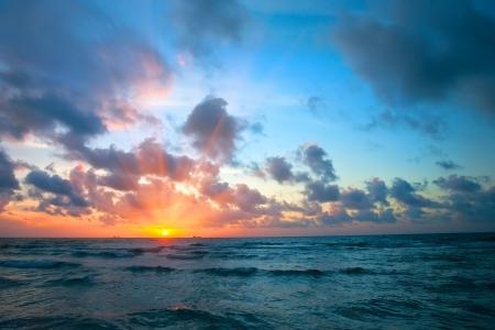 Sunrise over Atlantic ocean,  FL, USA