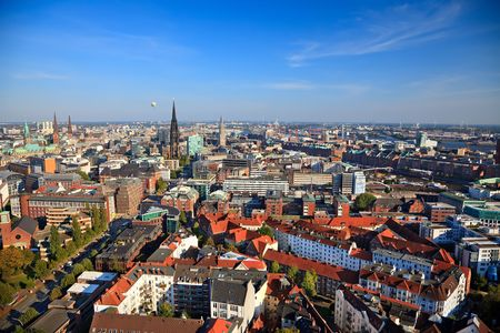 View on Hamburg from Michel, Germany