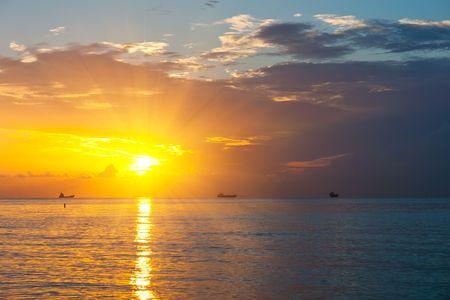 Sunrise over Atlantic ocean, Miami
