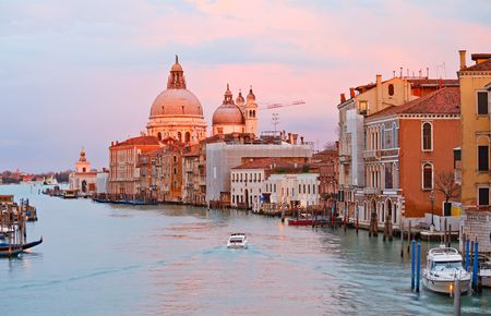 Grand canal at sunset Venice
